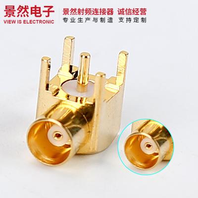 MCX母座臥插PCB板射頻連接器